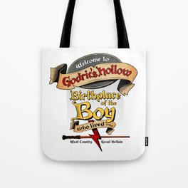 Birthplace of the Boy Who Lived Tote Bag