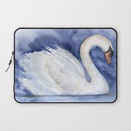 Swan Watercolor Painting Laptop Sleeve