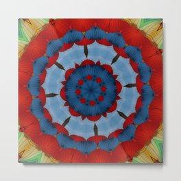 Primary Colours Parasol Kaleidoscope Metal Print