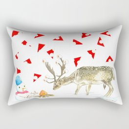 Christmas marshmallow Rectangular Pillow