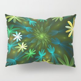 Fantasy Flowers, Fractal Art Pillow Sham