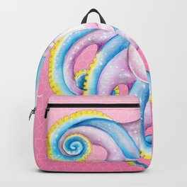 Octopus Stained Glass Pink Backpack