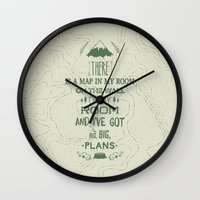 maps Wall Clocks featuring Maps by Posters 4 Progress