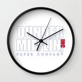 Dunder Mifflin The Office Logo,white Wall Clock