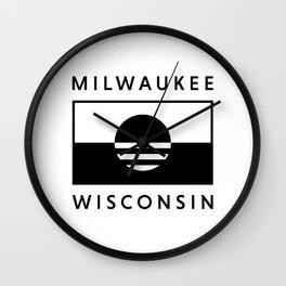 Milwaukee Wisconsin - White - People's Flag of Milwaukee Wall Clock