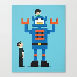 Building Block Bot Canvas Print