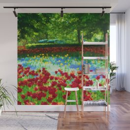 Colorful Impressionist Flower Field - II Wall Mural