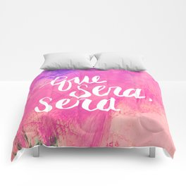 Que Sera, Sera // Pink Comforters