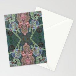 Elegant Detailed Orchid Meditation Pattern Stationery Cards