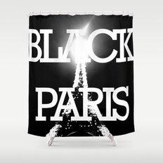 BLACK PARIS Shower Curtain