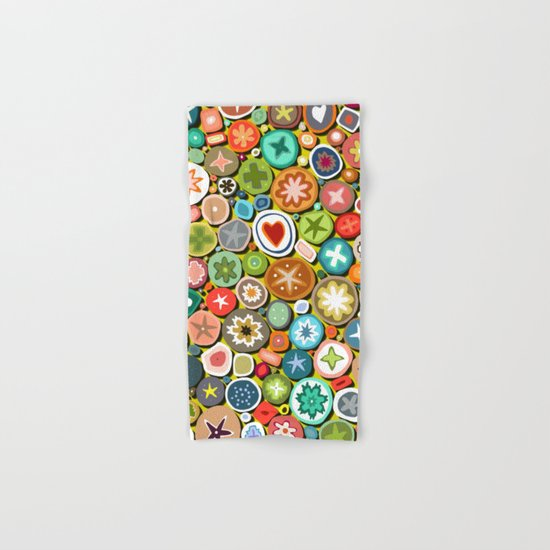 millefiori yellow Hand & Bath Towel