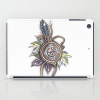 compass iPad Cases featuring Compass by byfgal