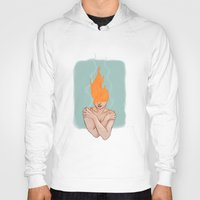 lorde Hoodies featuring Your head caught flame by Sweet Demise Designs