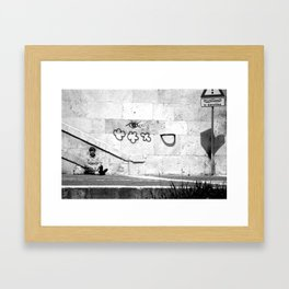 {Il Banchina} Framed Art Print