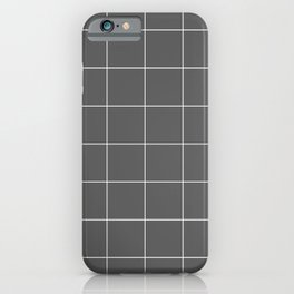 Graph Paper (White & Grey Pattern) iPhone Case