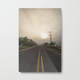 Morning Road Trip Metal Print