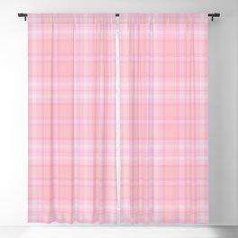Pink Blush Plaid Pattern Blackout Curtain