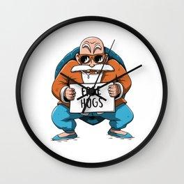 Muten Roshi free hugs Wall Clock