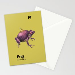 Ff - Frig // Half Frog, Half Fig Stationery Cards