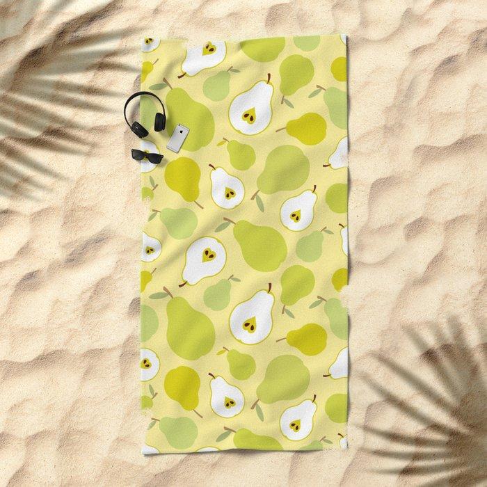 Honey pears  Beach Towel