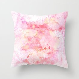 Marble Sunrise Throw Pillow
