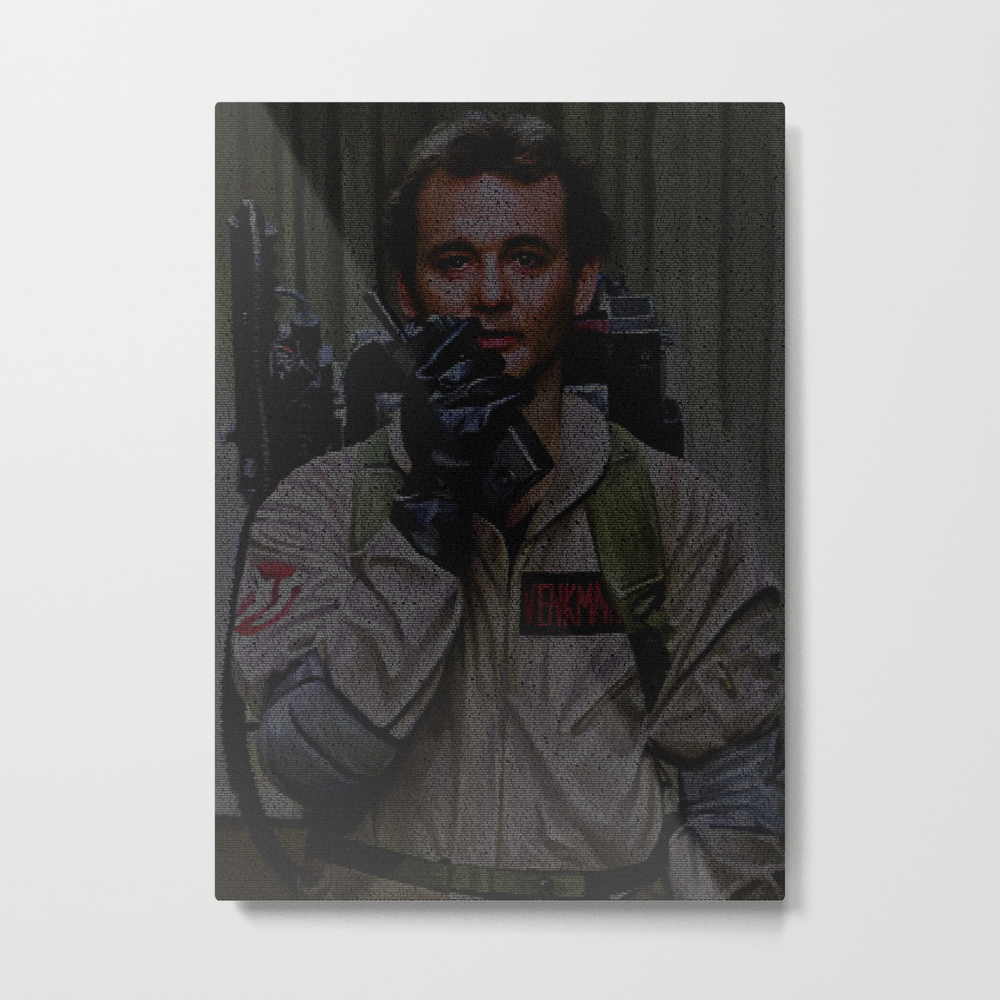 Venkman: Ghostbusters Screenplay Print Metal Print by Roboticewe MTP8617722