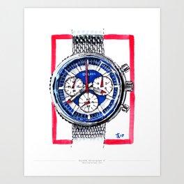 Bulova 'Stars and Stripes' Chronograph C Art Print