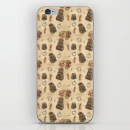 Steampunk Vintage Books and Roses iPhone Skin