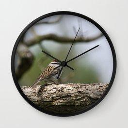 Sparrow in Tree Wall Clock