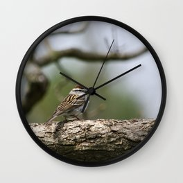 Sparrow in Tree Wall Clock
