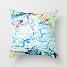 Fibroblasts - Watercolor Painting Throw Pillow