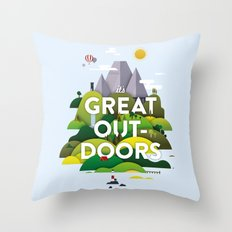 It's Great Outdoors Throw Pillow