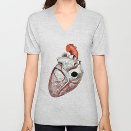 Geometric Heart Unisex V-Neck