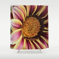 racing Shower Curtains featuring Racing Stripes by IowaShots