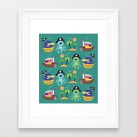 pirates Framed Art Prints featuring Pirates by Maria Jose Da Luz