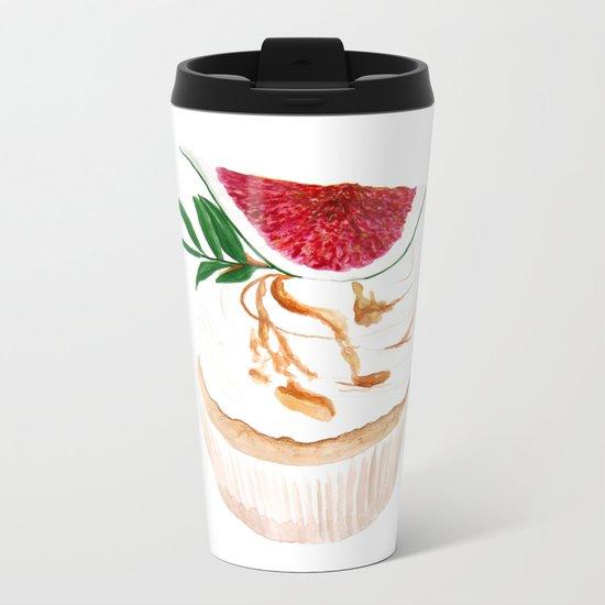 Fig Cupcake Metal Travel Mug