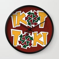 philippines Wall Clocks featuring IkoToki: University of the Philippines, Diliman by Franchie
