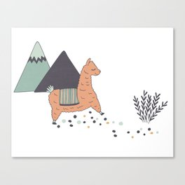 Sleep Walking Llama Canvas Print