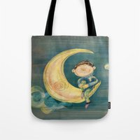 boy Tote Bags featuring Boy by Catru