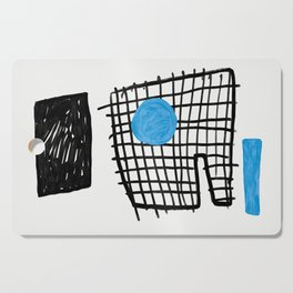 a graphic montage Cutting Board