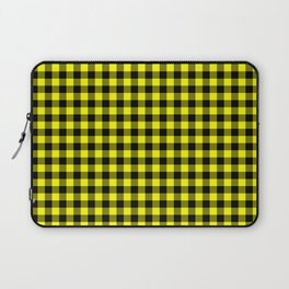 Classic Yellow Country Cottage Summer Buffalo Plaid Laptop Sleeve