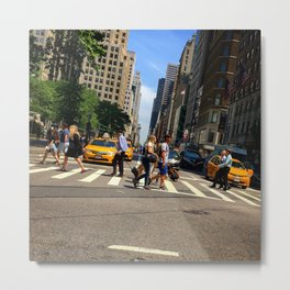 5th Avenue, looking north towards Central Park Metal Print