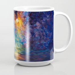 Tardis Doctor Who Rainbow Abstract Coffee Mug