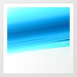 Turquoise Aqua Ombre Art Print