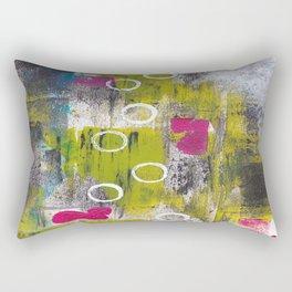Nine White Circles Rectangular Pillow