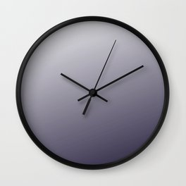 Dark Violet Purple Modern Trendy Ombre Pattern Wall Clock