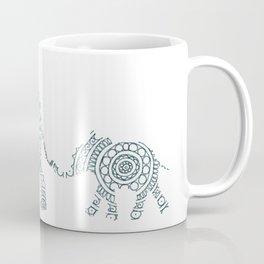 Mama Elephant Walking Baby Elephant Circle Art Coffee Mug