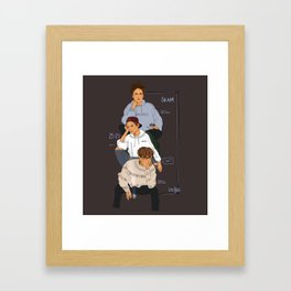 SKAM the Isak(s) Framed Art Print
