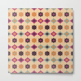 Seamless retro pattern geometrical vector texture background Metal Print