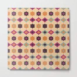 Seamless retro pattern geometrical vector texture background Metal Print